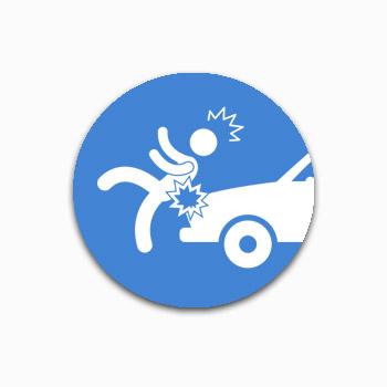 Piéton victime d'un véhicule à moteur